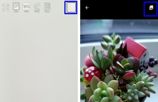 無音カメラ [最高画質]で保存した写真を確認する方法