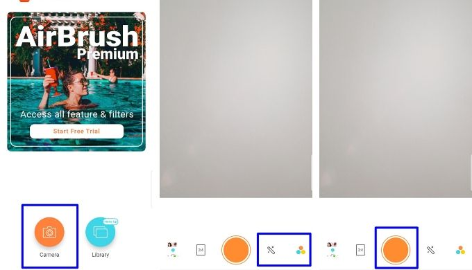 AirBrush(エアブラシ)アプリの撮影方法