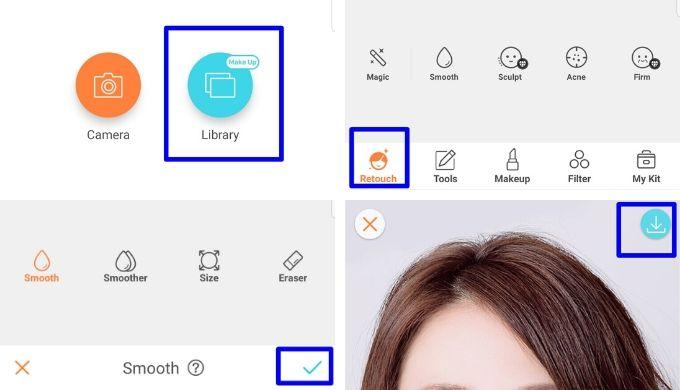 AirBrush(エアブラシ)アプリで写真を編集・加工する