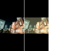 フィルムカメラ風画像のビフォーアフター